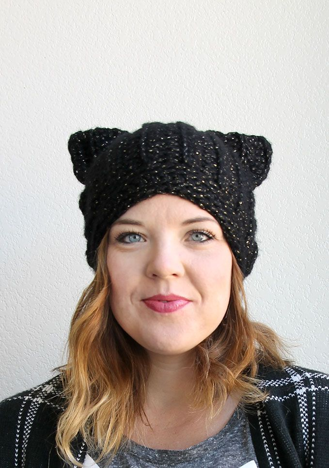 Another reason to learn to crochet!  black cat hat - free crochet pattern from www.persialou.com