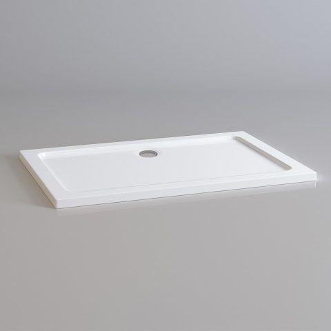 1200x800mm Rectangular Ultra Slim Stone Shower Tray - soak.com