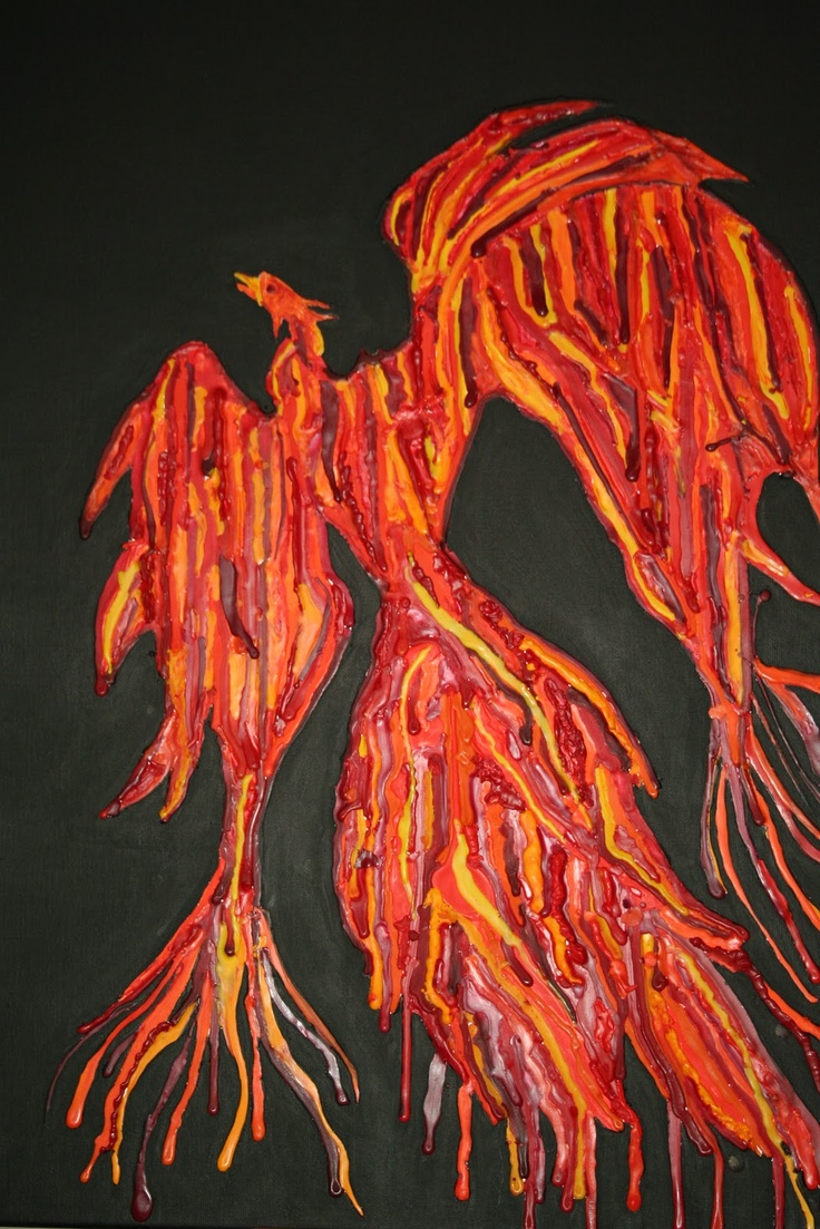 Crayon melting art images amp pictures becuo - Extreme Melted Crayon Art It S A Phoenix