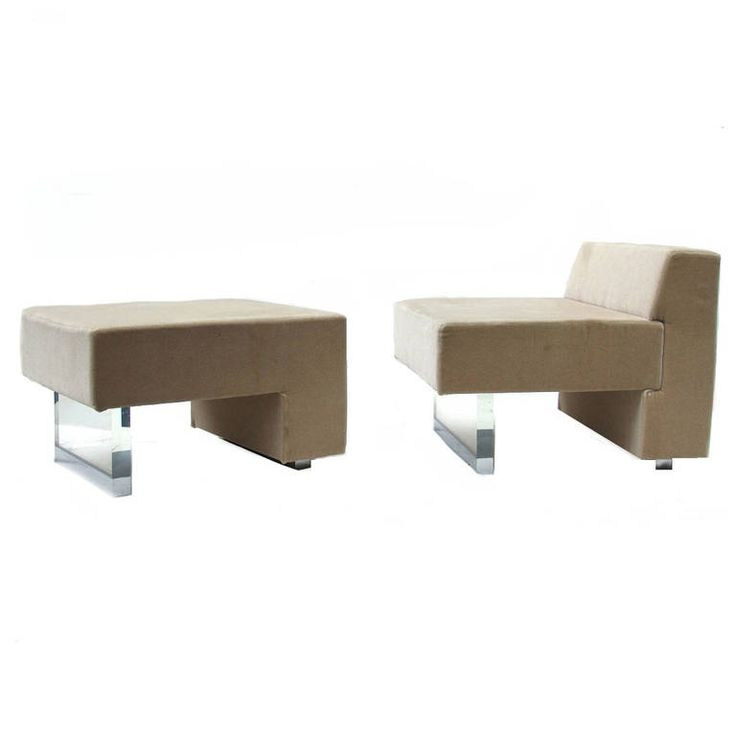Omnibus Lounge Chair And Ottoman By Vladimir Kagan For Gucci