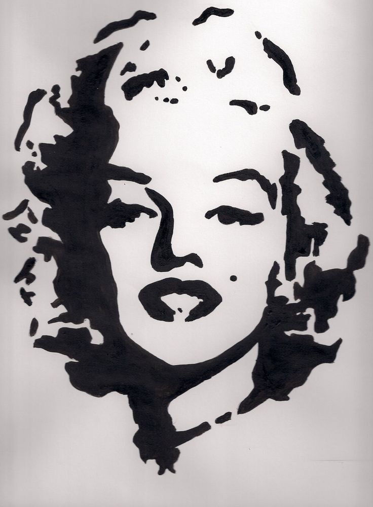 Marilyn Monroe Custom Painting Stencil Art Spray Paints Houndstooth Design Canvas Movie Icons Portrait American Women Street Graffiti