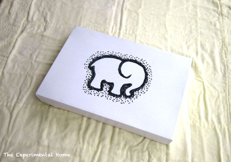 An awesome twist on a DIY gift box, my embroidered elephant gift box doubles as wall art!