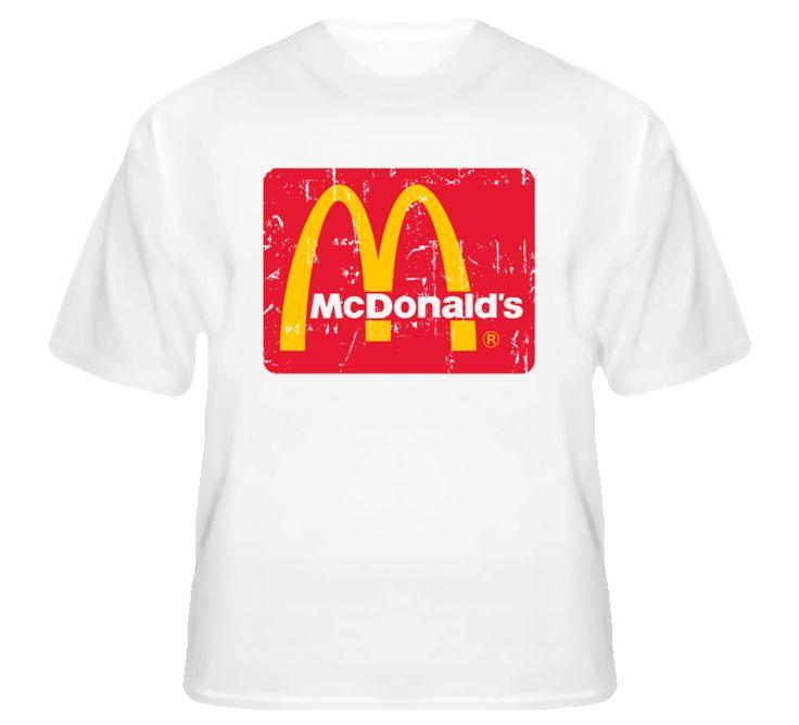 McDonalds Fast Food Restaurant Distressed Look T Shirt