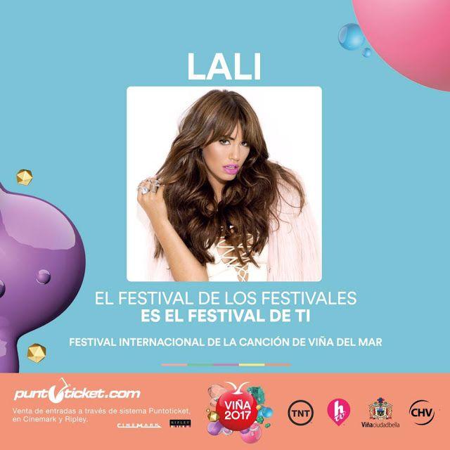 LALI estará presente en el Festival del Viña del Mar 2017   La artista pop más destacada e importante de Argentina formará parte del jurado del festival y se presentará en vivo en el mega escenario de la Quinta Vergara en Viña del Mar Chile. Previo a su debut en Viña 2017 el 1º de diciembre de este año Lali presentará su gira #SOYTour en el Teatro Caupolicán de Santiago de Chile.  Sin lugar a dudas Lali se encuentra atravesando uno de los momentos más importantes de su carrera siendo la…