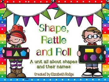 A great unit to help teach students all about shapes and the shape names! TeachersPayTeachers.com
