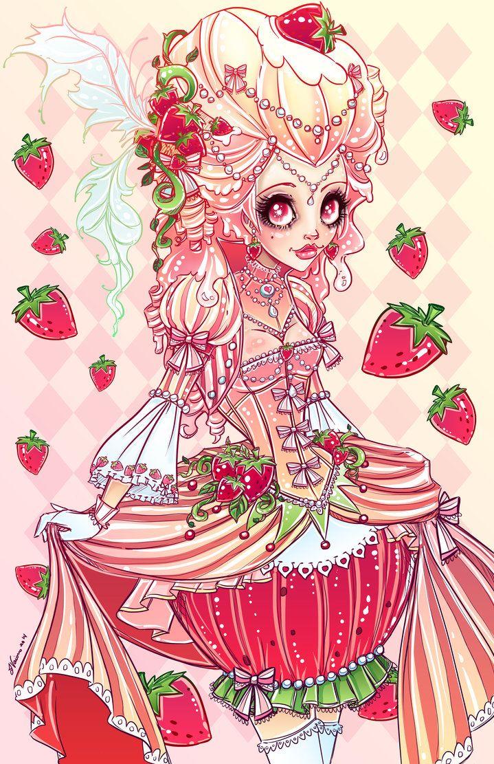 Strawberries And Cream by NoFlutter on deviantART Cute