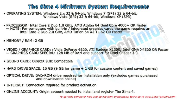 The Sims 4 Minimum System Requirements - Can You Run It