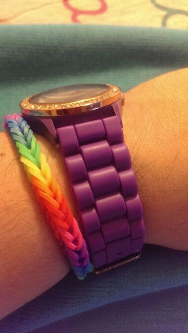 Loved this one! Rainbow loom! By me