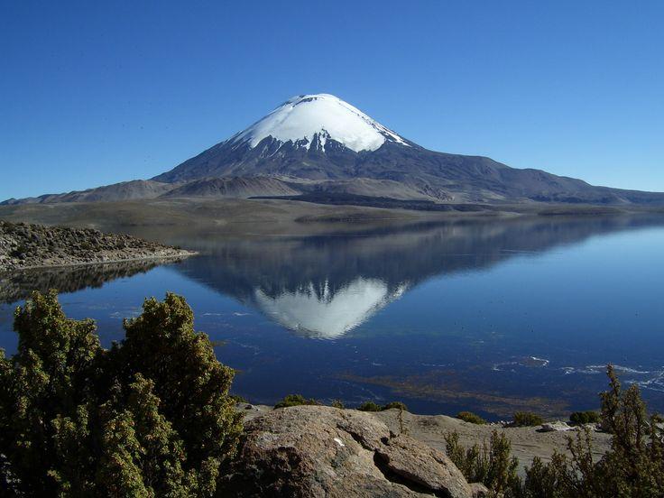 Parque Nacional Lauca , Lago Chungara  región de Arica - Parinacota CHILE.