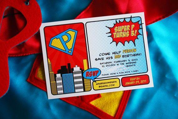 Vintage SUPER HEROS Birthday Party - Printable Hero Sandwich Labels