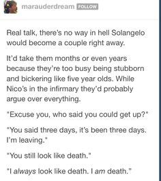 nico di angelo and will solace - Google Search