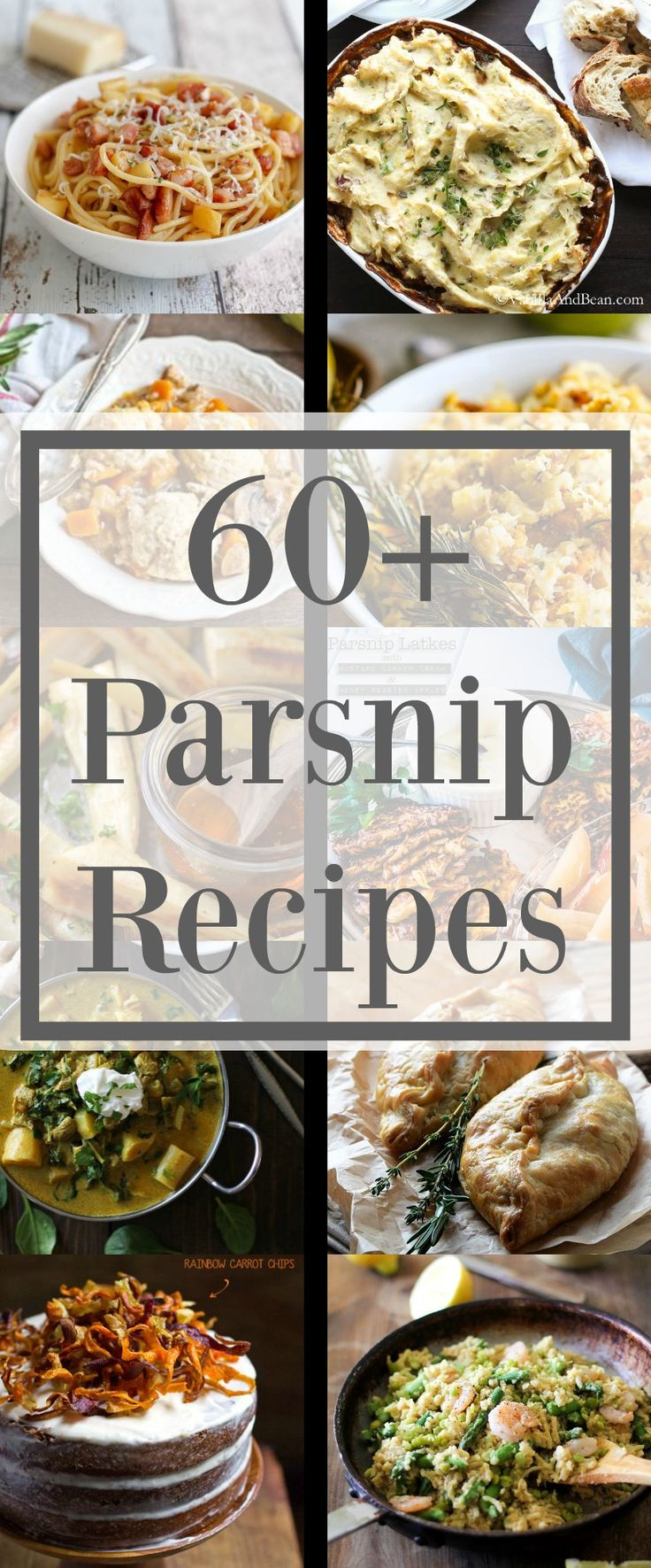 60+ Recipes that call for Parsnips.                                                                                                                                                                                 More