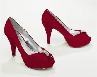 "I bought these! 4"" Heel, 1"" platform. David's Bridal, style Diana."