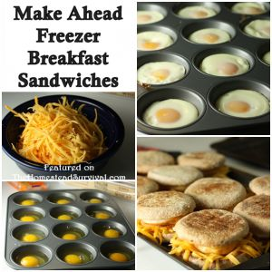 The Homestead Survival | Make Ahead Freezer Breakfast Sandwiches Recipe | http://thehomesteadsurvival.com