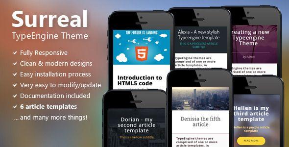 Surreal - Responsive TypeEngine Theme (TypeEngine Themes)