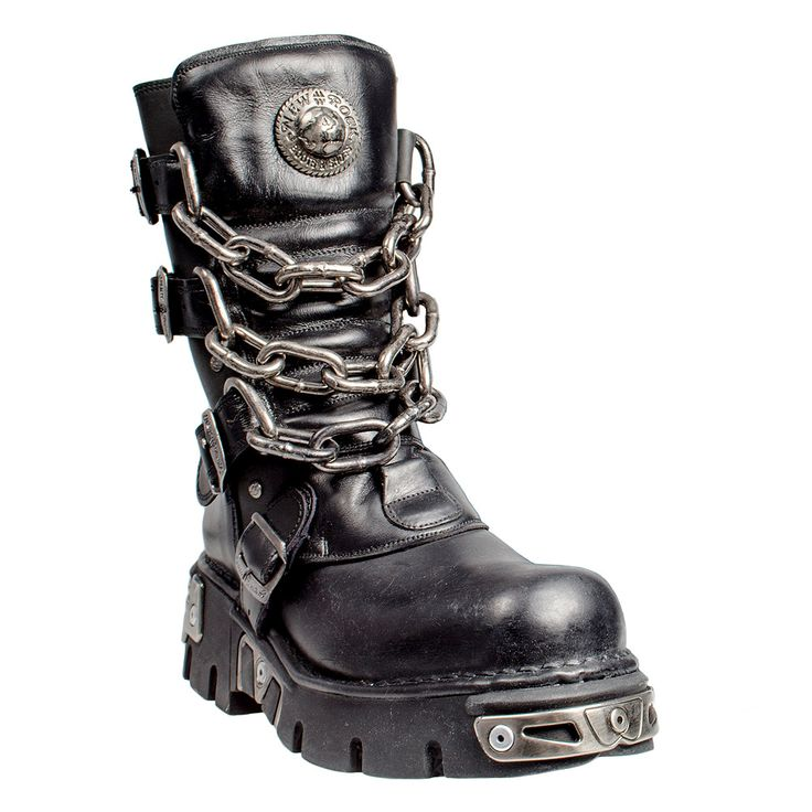 New Rock Boots Style 713 (Black/Silver)