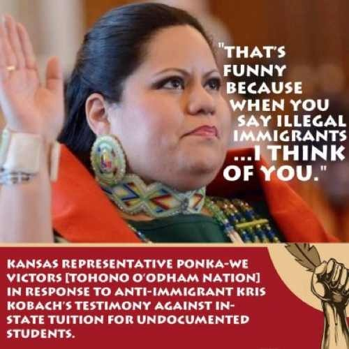 000 Post image for Native American State Rep To AntiImmigrant