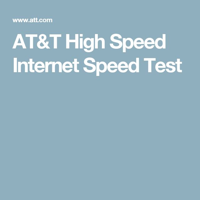 8/26/16 AT&T High Speed Internet Speed Test