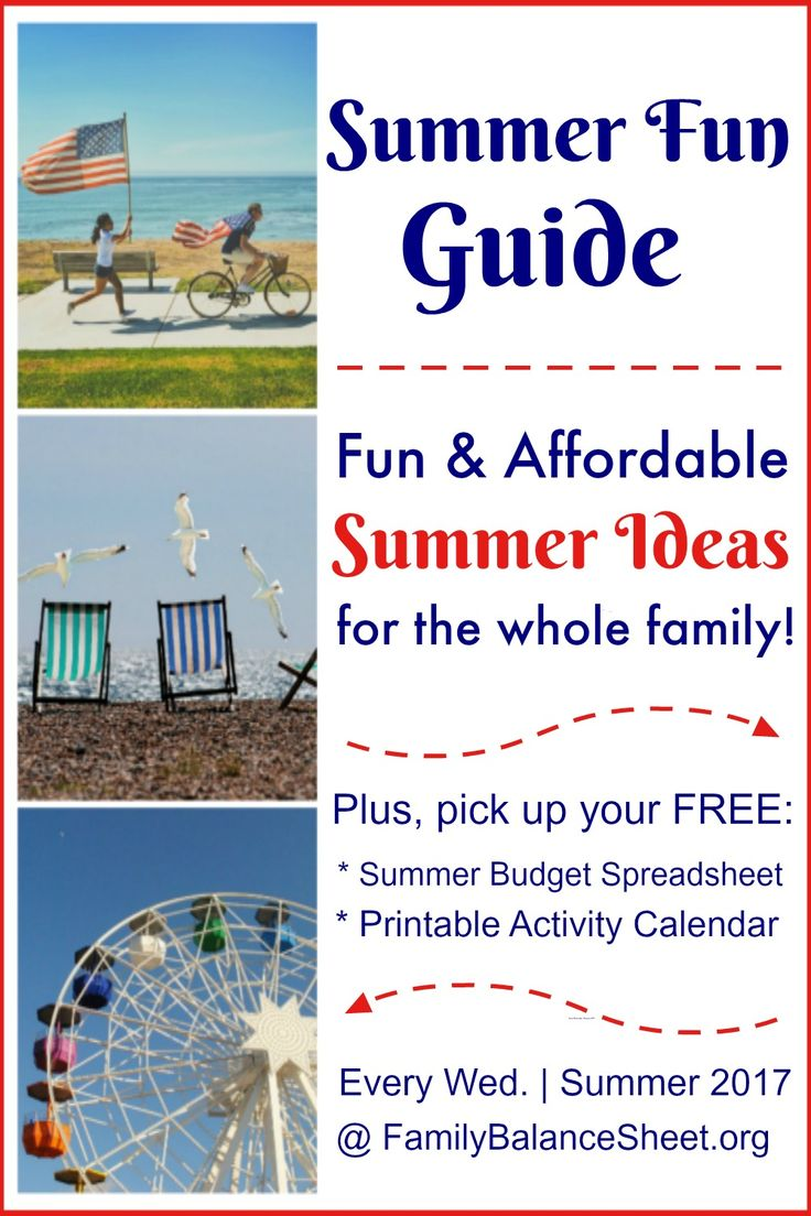 Welcome to your Summer Fun Guide. Every Wednesday in the summer, I'll share ideas, tips, and recipes to help you create a memorable summer.