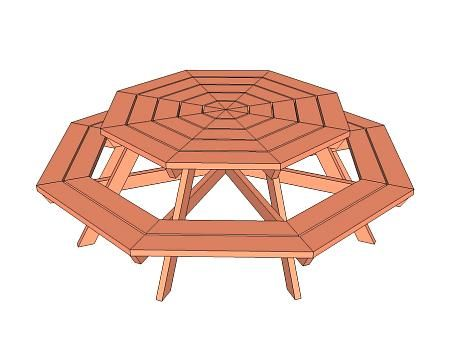 Octagon Picnic Table. This would be so fun in our huge backyard!