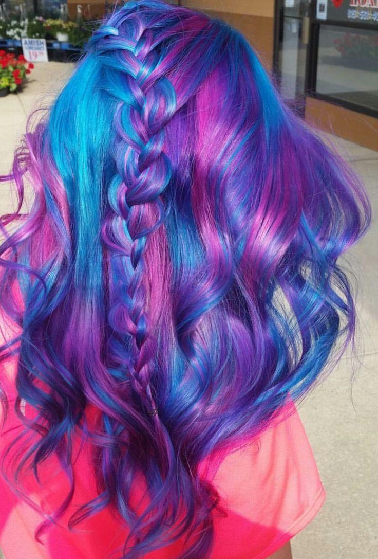 Purple dyed hair
