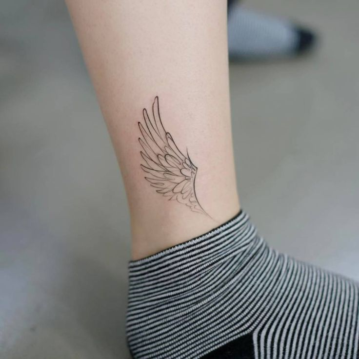 Image result for ankle wing tattoo