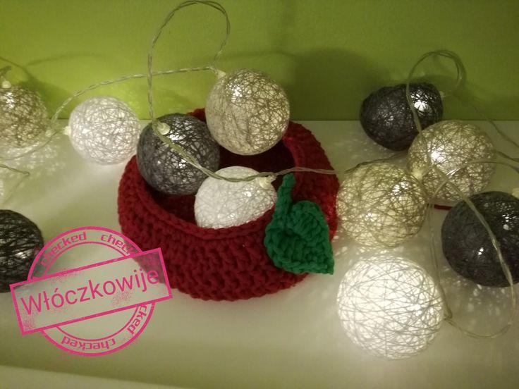 Crochet basket apple