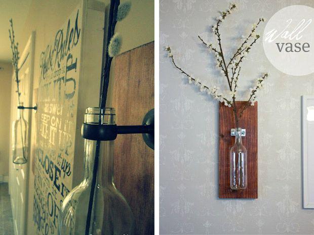 Il+vaso-bottiglia+da+muro+shabby+fai+da+te