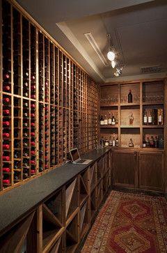 Four Seasons Mod -Wine Cave - contemporary - wine cellar - austin - Cravotta Studios -Interior Design