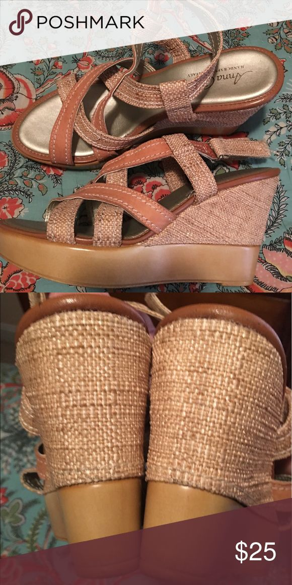 Anna Capri wedges/made n Italy Perfect Condition... Anna Capri Shoes Wedges