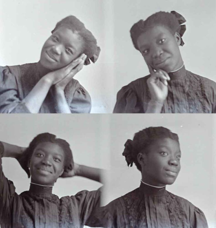 """Hugh Mangum, a gregarious white itinerant photographer, rode the trains to the small towns of North Carolina, Virginia and West Virginia from 1909-1912. This un-named young woman is the subject of four """"penny portraits"""" in his lighthearted style."""
