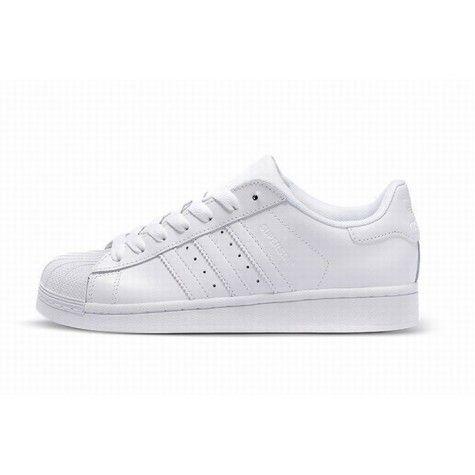 Man Adidas Superstar Foot Friendly Alle Wit Voor Goedkoop