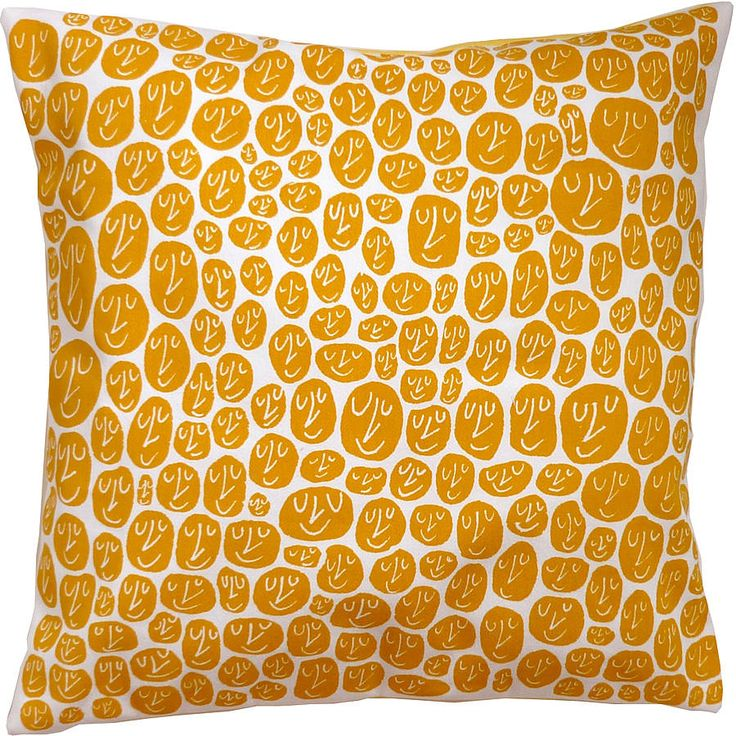 happy faces cushion by mr.ps | notonthehighstreet.com