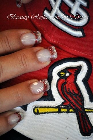 I am sooooo ready for some Cardinal Baseball. Here's to opening day!!!  Definite taking this pic to the nail salon!!