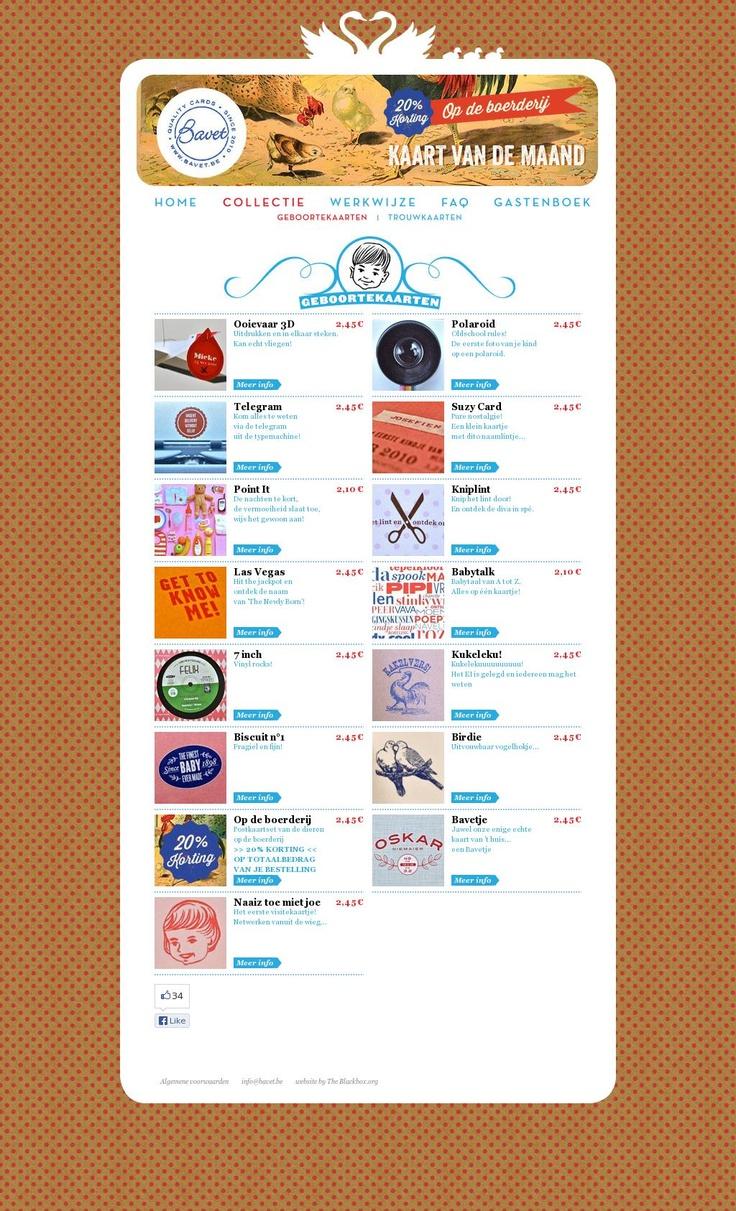 Bavet heeft super leuke en originele geboortekaartjes http://www.bavet.be/geboortekaarten.aspx #webshop