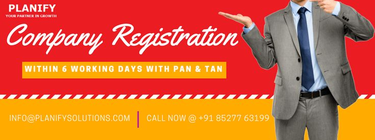 #Planify brings you exclusive deal at company registration. Get your company registered at just Rs. 15000/- only in just 6 working days with PAN/TAN Registration Number.