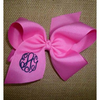 Monogrammed Bows