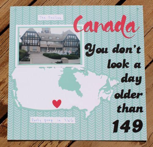 Canada 150 layout by Tracy Falconer