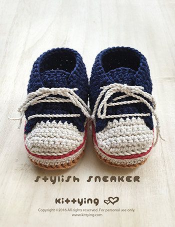 Crochet Pattern Baby Sneakers Crochet Patterns Stylish Baby