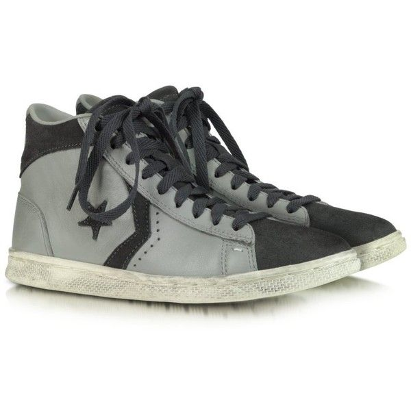 Converse Limited Edition Pro Leather Mid Leather and Suede Sneaker found on Polyvore