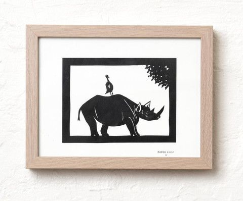 Rhino original paper cut - I love this image. So bold and striking.