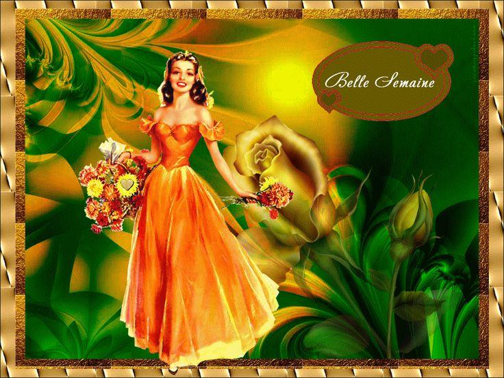 """ramos de portadores entre las rosas """"hermosa semana ..."""