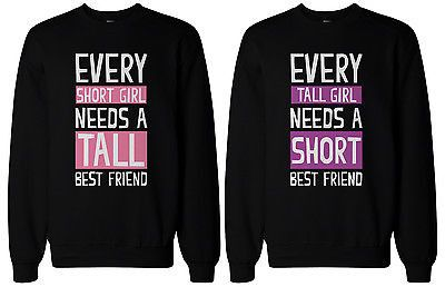 Cute BFF Gift BFF Sweaters - Tall and Short Best Friends Matching Sweatshirts