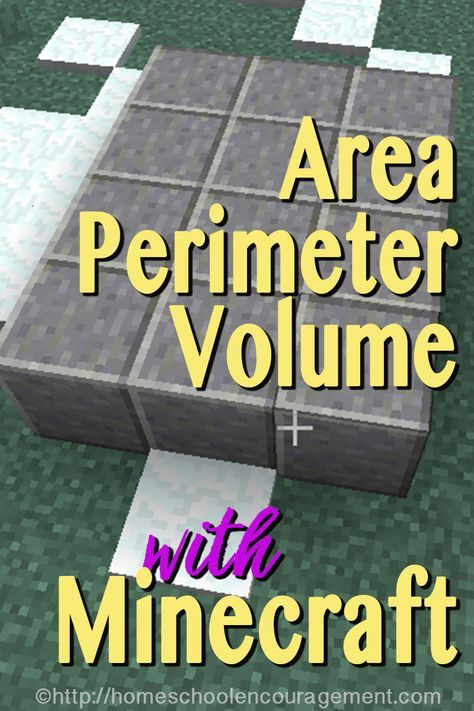 Teaching Area, Perimeter and Volume with Minecraft - learning with Minecraft MATH