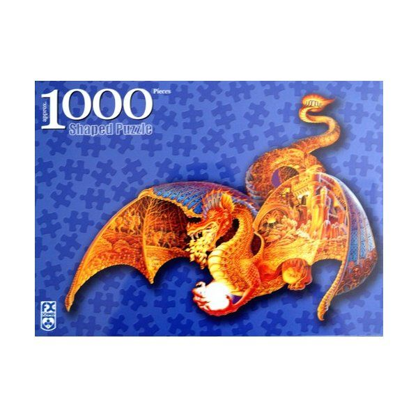 Fire Dragon 1000pc Shaped Jigsaw Puzzle By Fx Schmid
