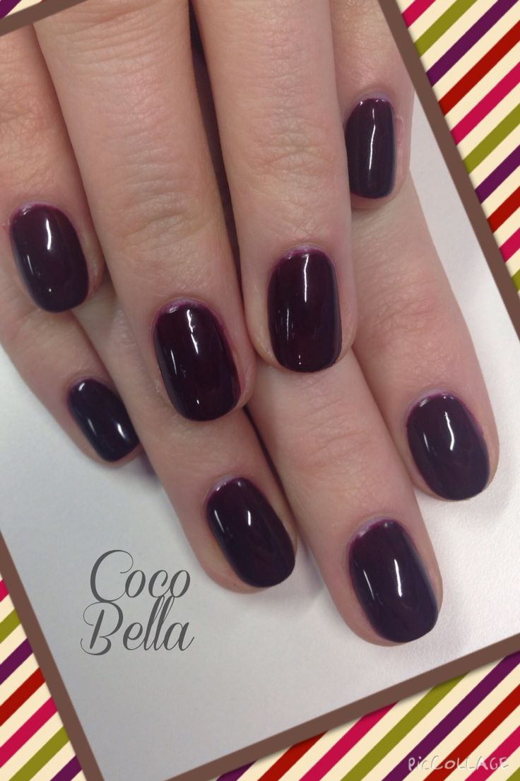 Gelish natural nails. Very Cherry Berry.