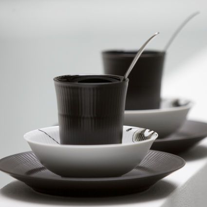Royal Copenhagen Black Fluted Dinnerware