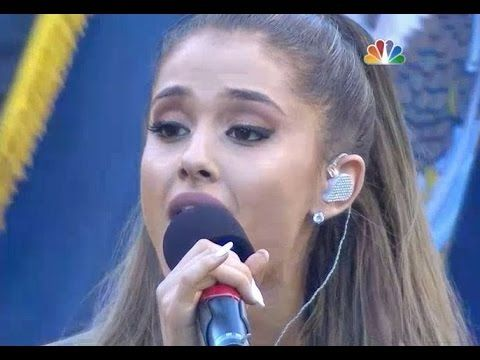 Ariana Grande performing the National Anthem at the Seattle Seahawks game --wow. I think this is officially my favorite version so far. 2nd=Whitney Houston.  Wow