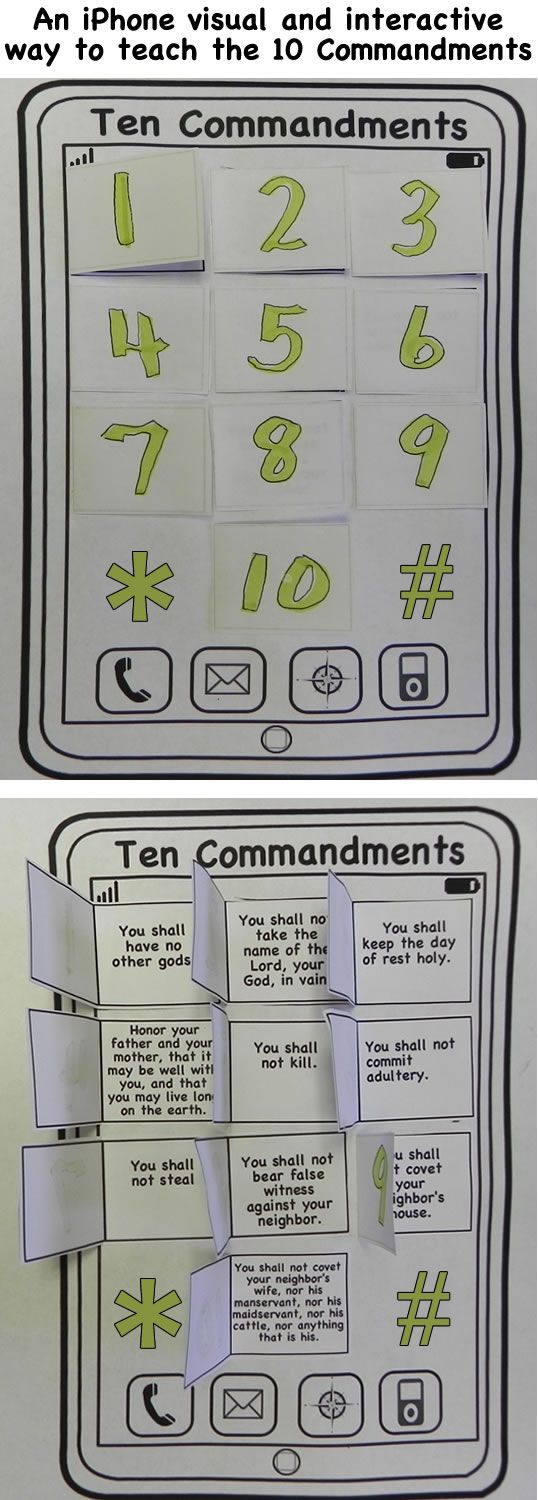 cute way to teach the 10 commandments