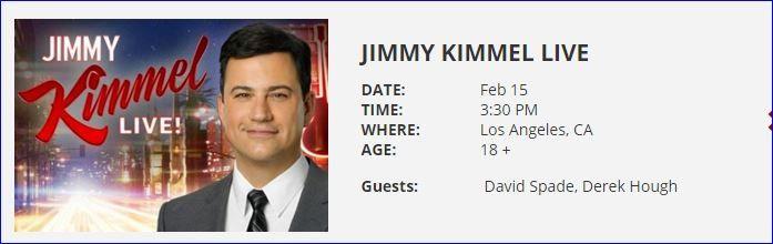 Derek Hough to Visit Jimmy Kimmel Live!! Get Tickets!!